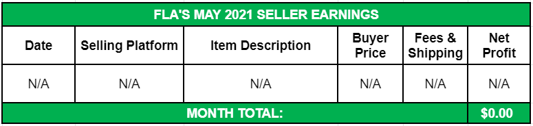 May Side Income 2021 Seller Earnings
