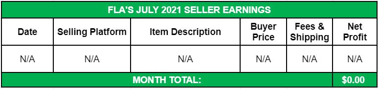 July Side Income 2021 Seller Earnings