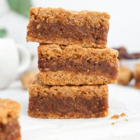 Healthier Date Fig Newton Bars (paleo, nut free)