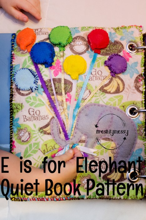 e is for elephant quiet book 2