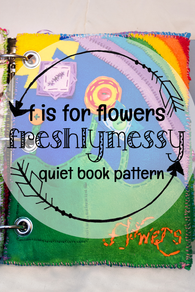 Learning the Letter F with a Flowers Quiet Book Page