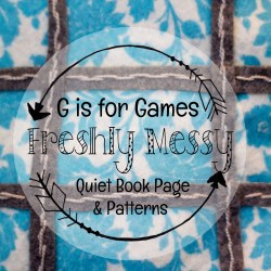 g is for games quiet book 4
