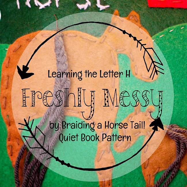 Learning the Letter H with a Horse Quiet Book Page