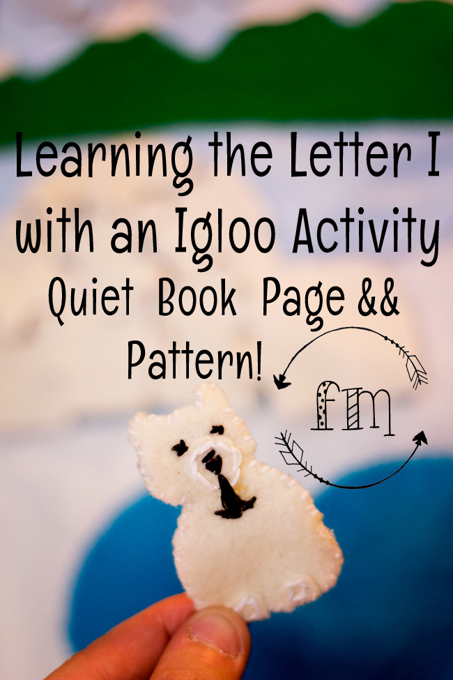 i is for igloo quiet book 3