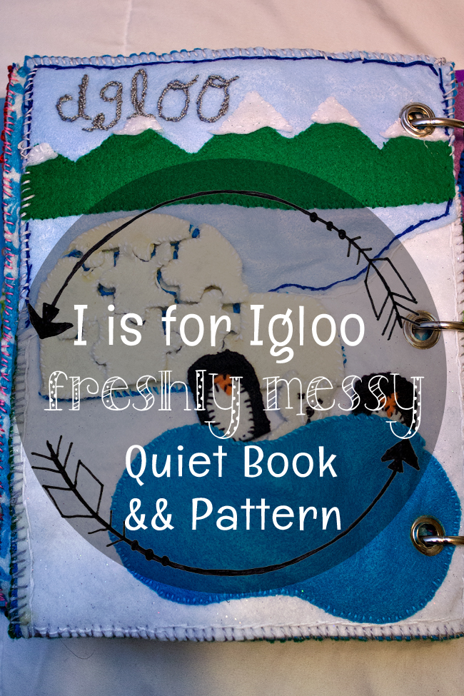 Learning the Letter I with an Igloo Quiet Book Page