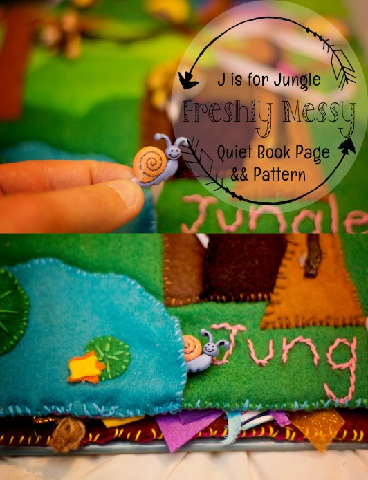 j is for jungle quiet book 4