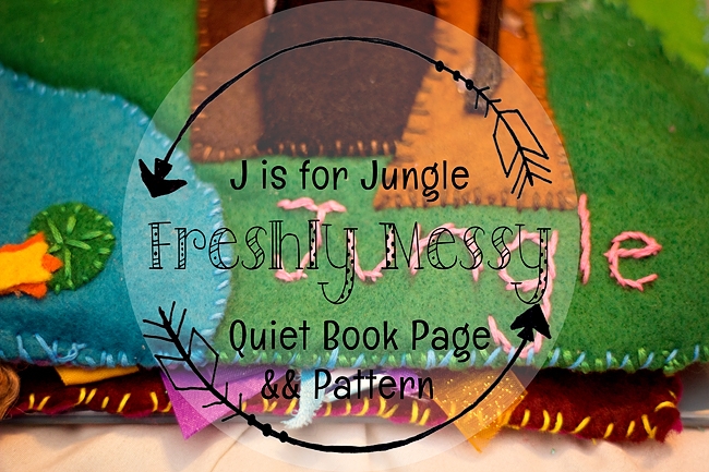 j is for jungle quiet book 5