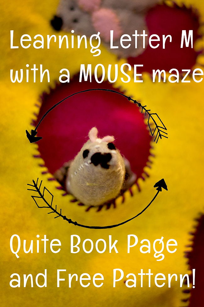 m is for maze quiet book 2