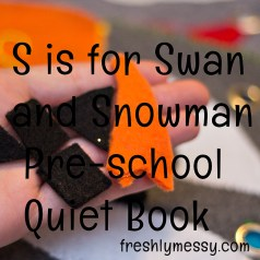 s is for snowman quiet book 2