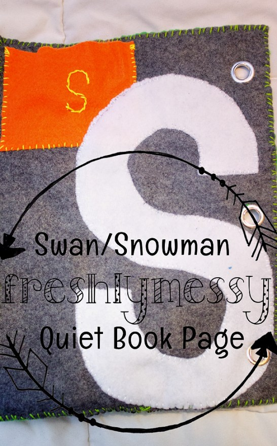 s is for snowman quiet book 5