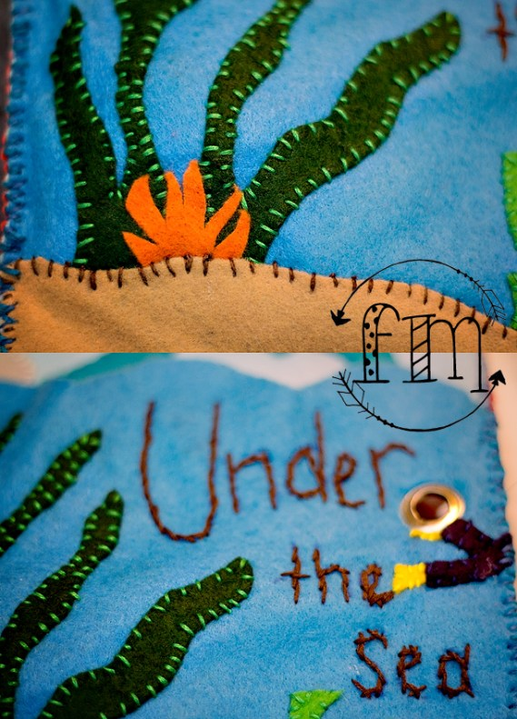 u is for under the sea quiet book 4