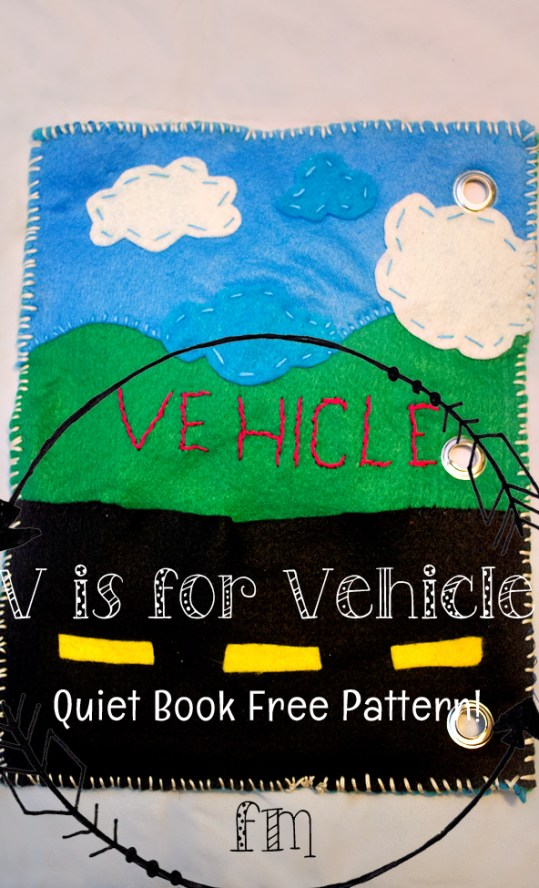 v is for vehicle quiet book 1