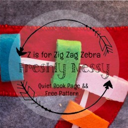 z is for zebra quiet book page 5