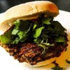 Spicy vegan burger