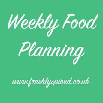 Weekly Food Plan