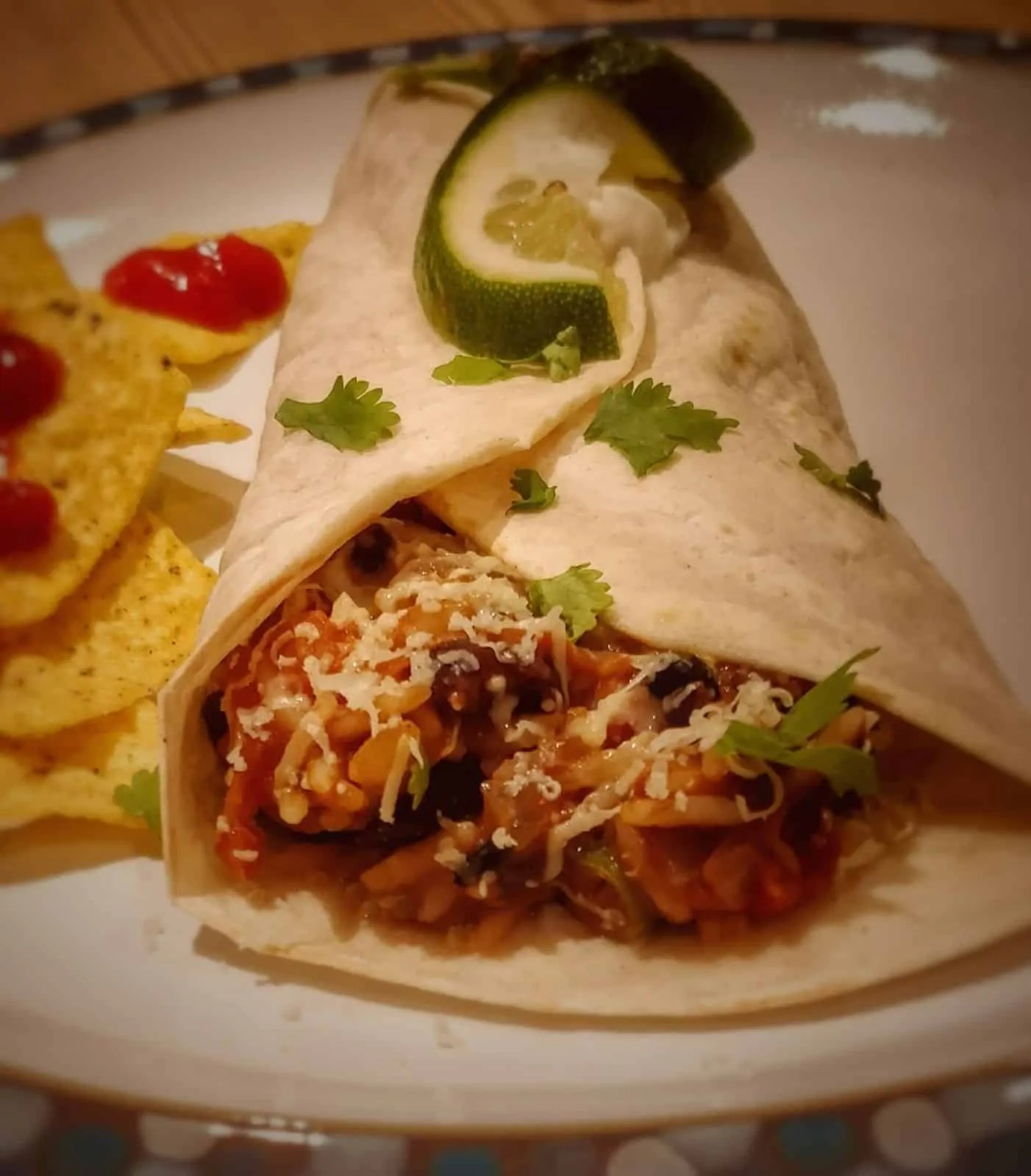 Spicy Vegetarian Burritos Recipe (My Fajitas Blend)