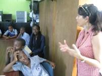 Annalee Davis addressing the students