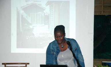 Joanna Crichlow speaking about her residency experience