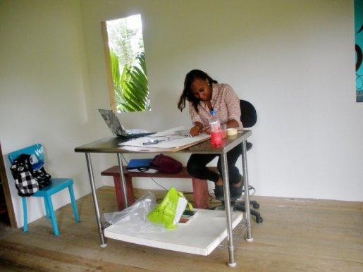 Simone Padmore at work