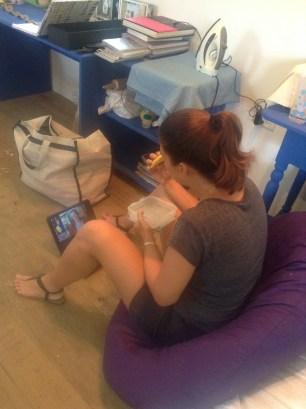 Raquel Marshall in the Fresh Milk studio