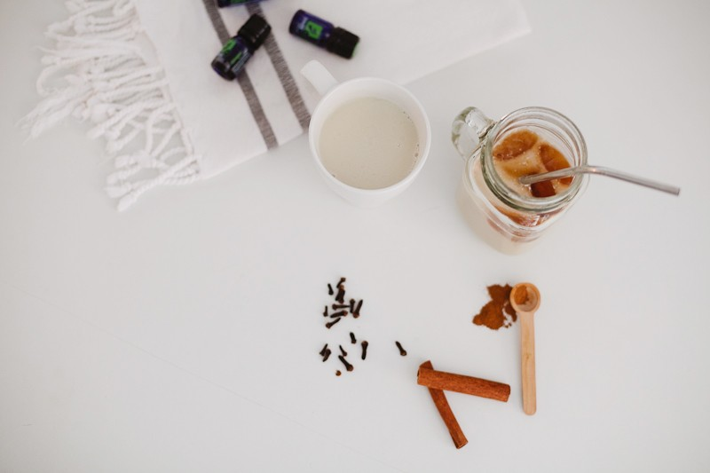 Wholesome and Dirty Iced Chai Tea Recipe with Essential Oils