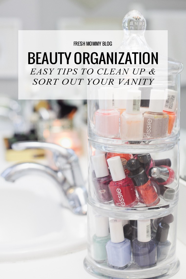 Sort out and clean up your bathroom vanity so you feel great getting ready for the day!