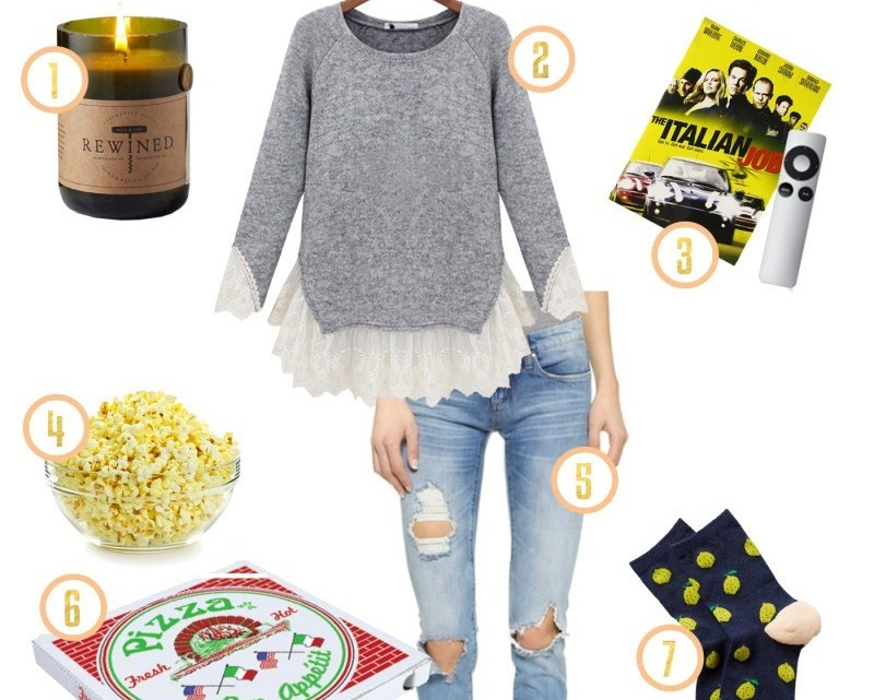 date night at home and on a budget. What to do and what to wear.