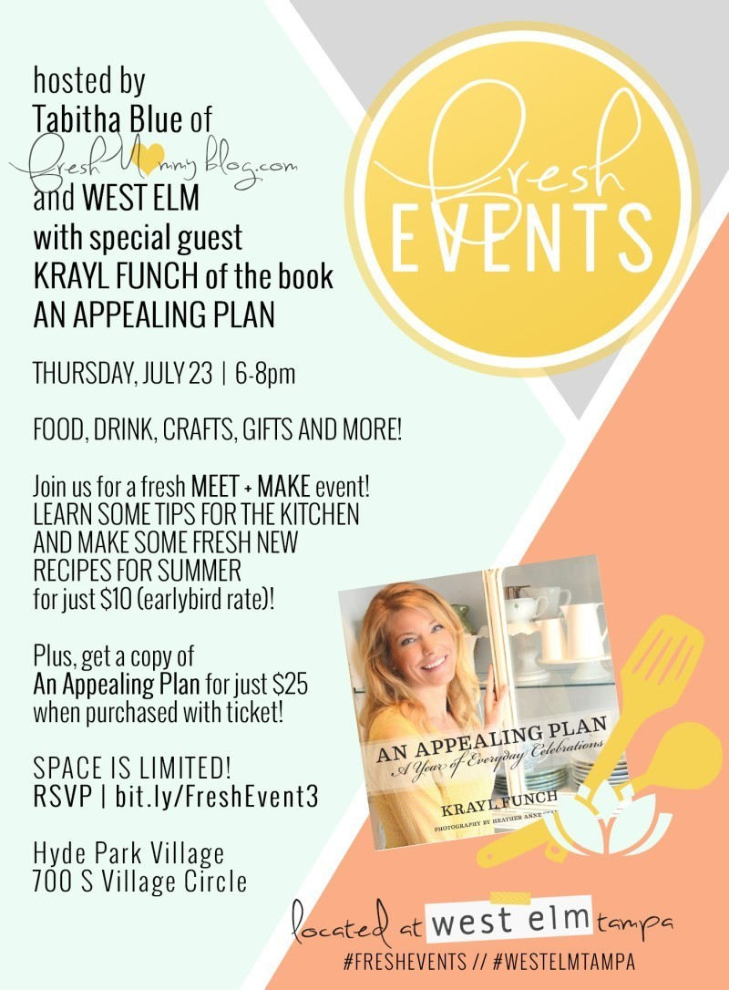 Fresh Event with West Elm Tampa and Krayl Funch!