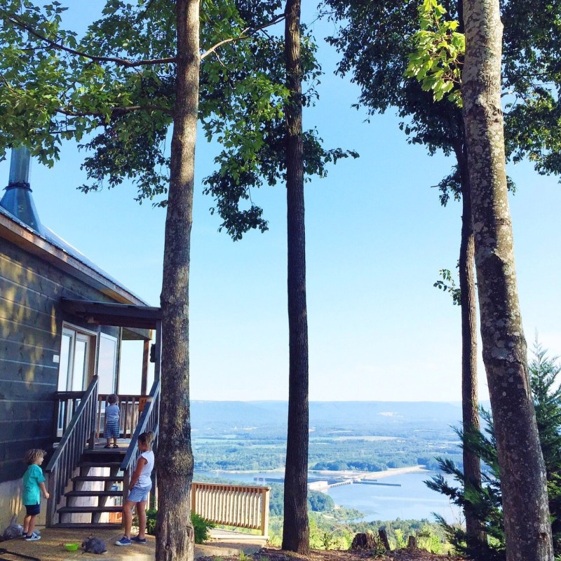 The best of Chattanooga #bluesummertour. A cabin adventure!
