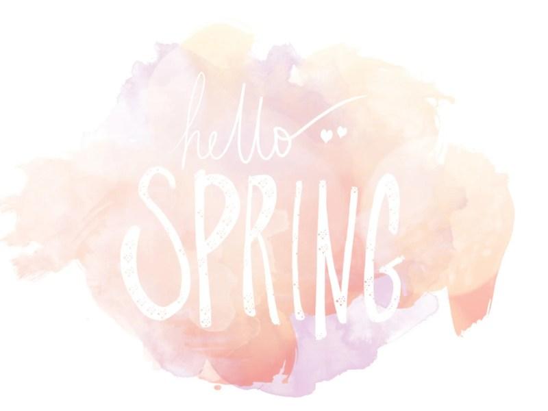Hello Spring Desktop Background