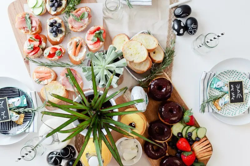Simply Delicious Easter Crostini Brunch with donuts and Ghiradelli chocolate!-20