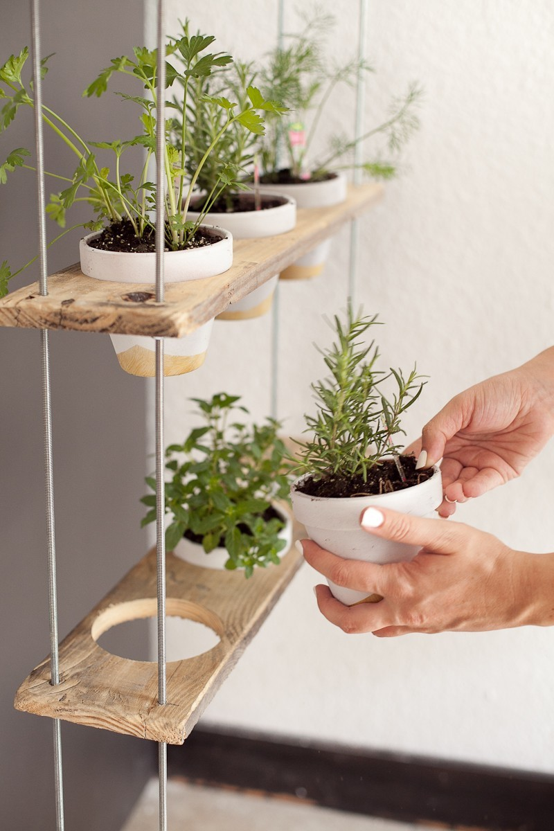 ... DIY Hanging Herb Garden -16 - Hanging Herb Garden DIY by popular  Florida lifestyle blogger