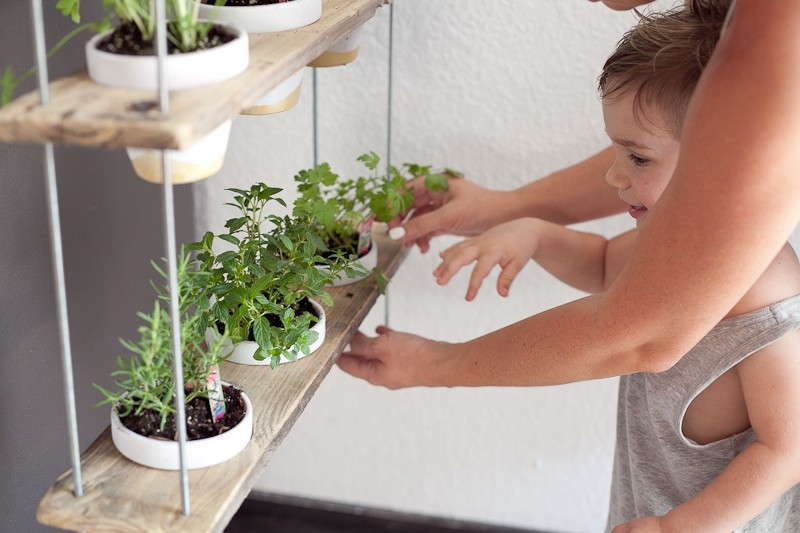 DIY Hanging Herb Garden -17