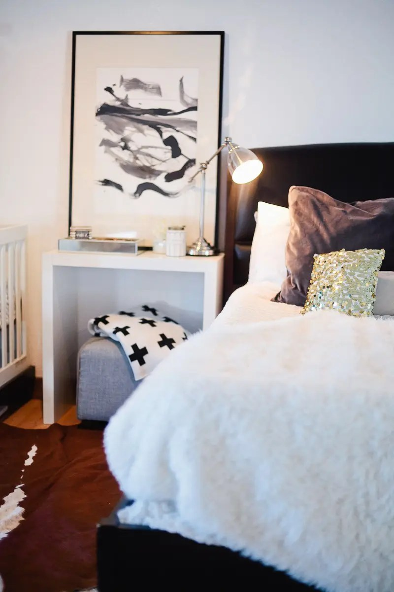 A Redesigned Master Bedroom and Nursery Suite in Navy Blue and White with Fresh Mommy Blog