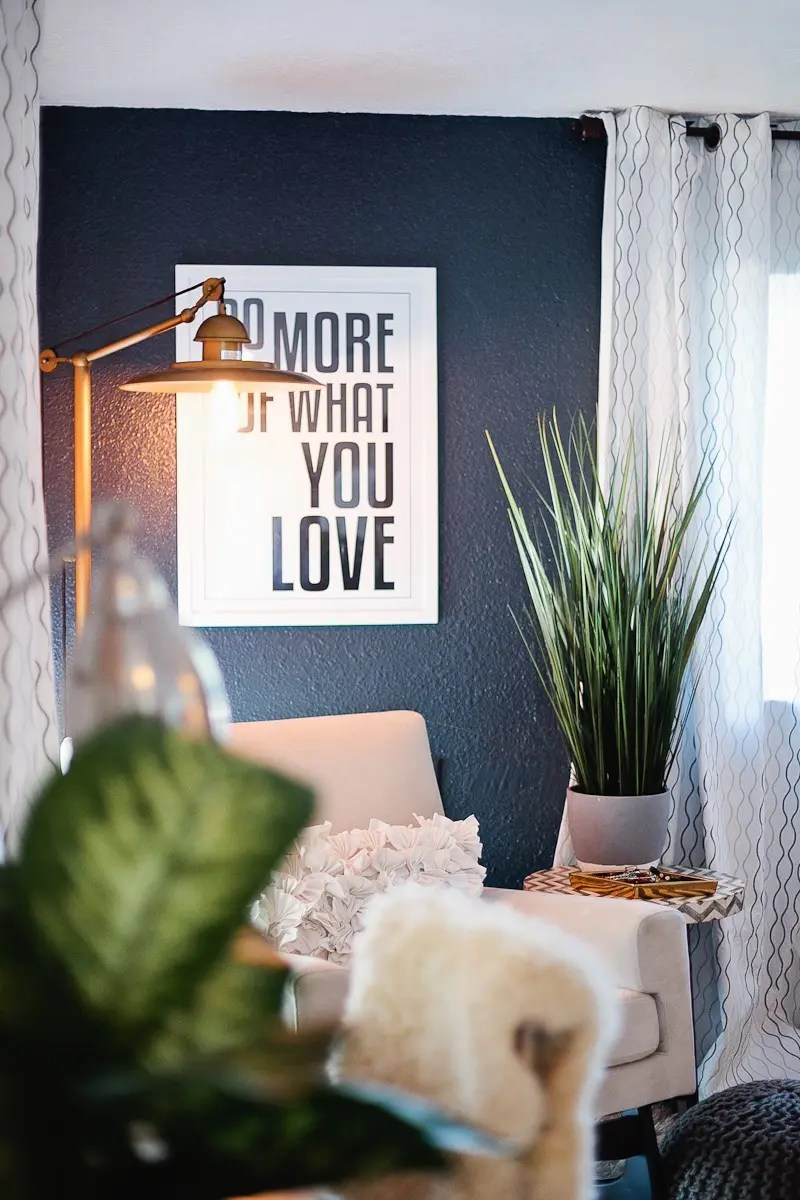 A Redesigned Master Bedroom and Nursery Suite in Navy (Chimney Smoke from Valspar) Blue and White with Fresh Mommy Blog and Valspar Paint Zero VOC