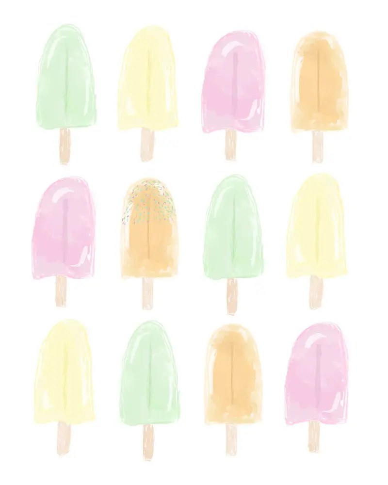 Popsicle Print and Free Summer Wallpaper Download from Fresh Mommy Blog