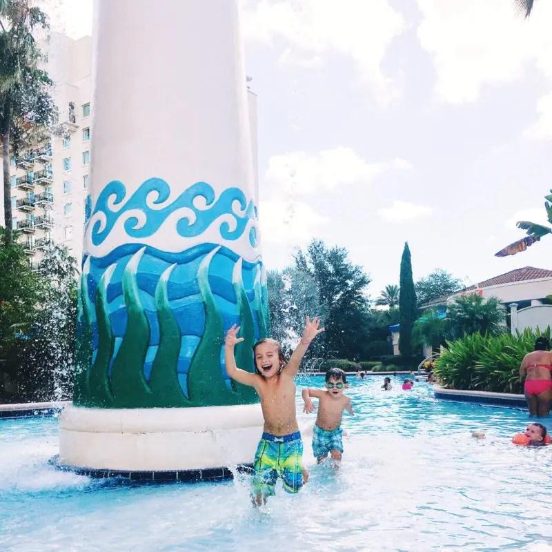 Splash Pad fun at Omni Resort Orlando at Champions Gate
