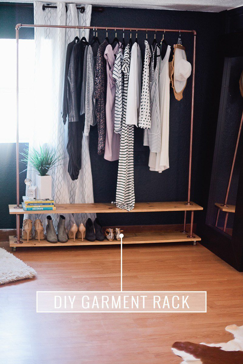Design Diy Clothes Rack rolling diy garment rack for your wardrobe fresh mommy blog get the full simple and easy tutorial to make own