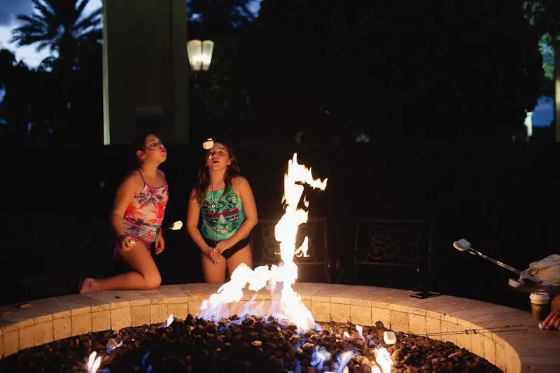 A birthday celebration getaway to Omni Orlando. A Go Local staycation at the firepit at gorgeous resort.