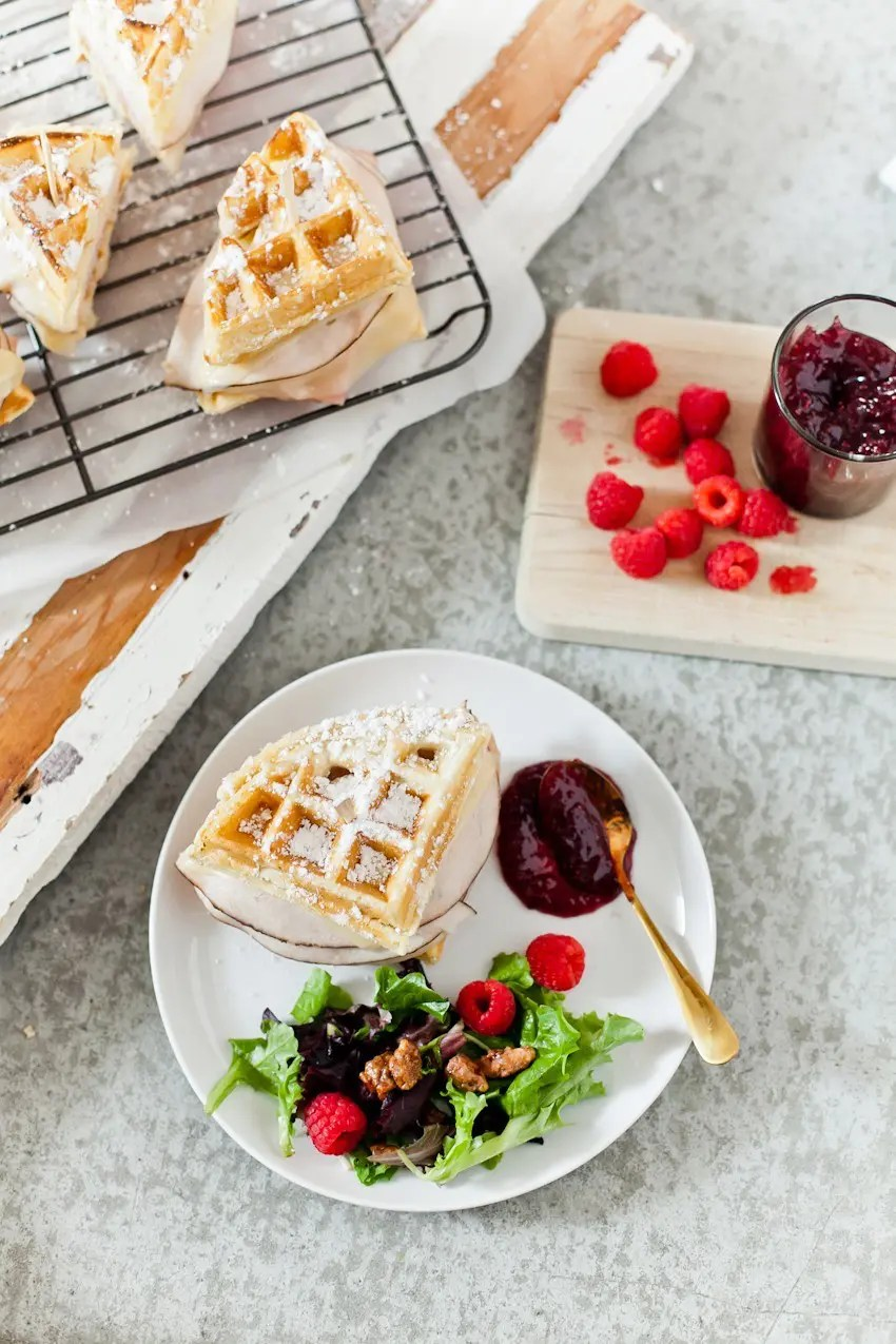 Monte Cristo Waffle Skewers make for a great breakfast, brunch or breakfast for dinner! These make a meal that our entire family eats up and also great for Valentine's Day or any other holiday!