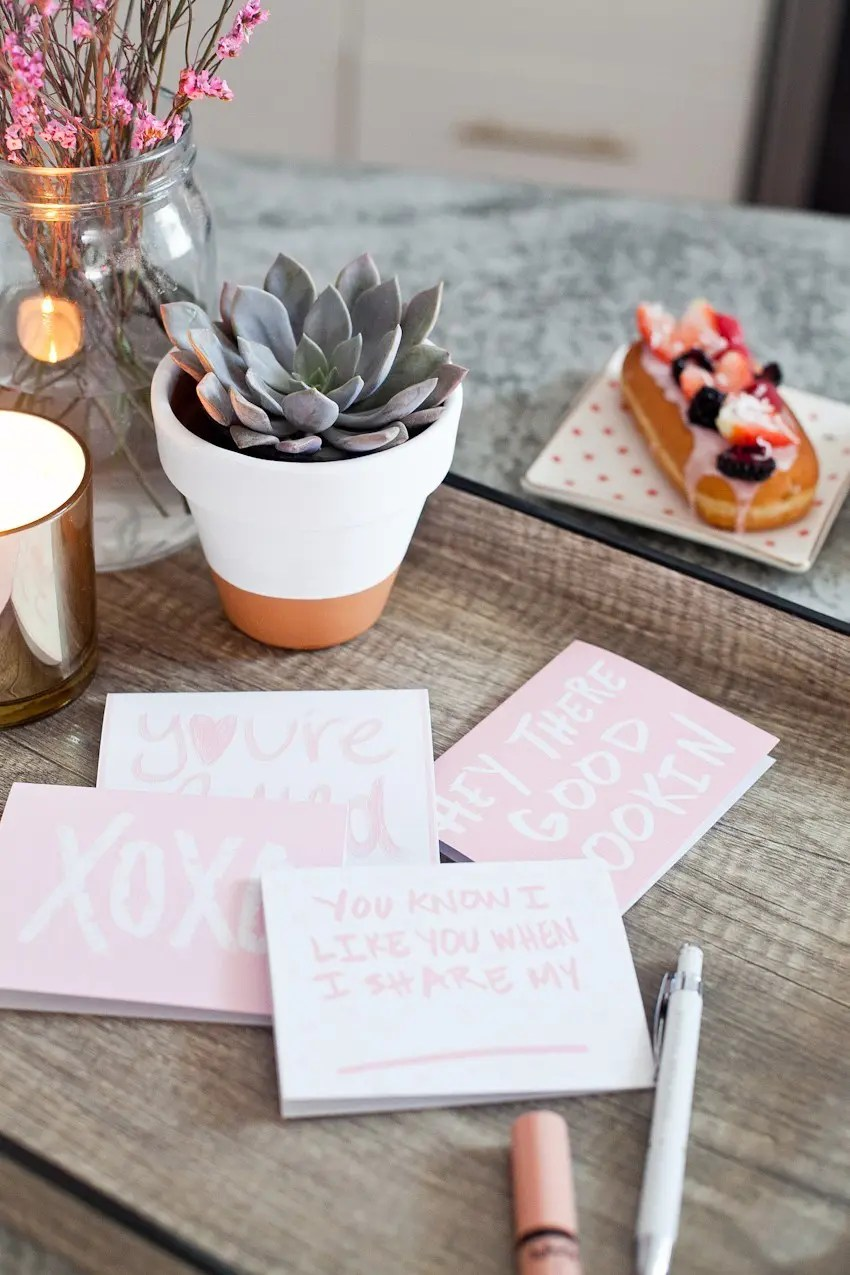 The countdown to Valentine's Day! Download these Four FREE Valentine's Day Cards that you can print until your heart is content, and your list is met!