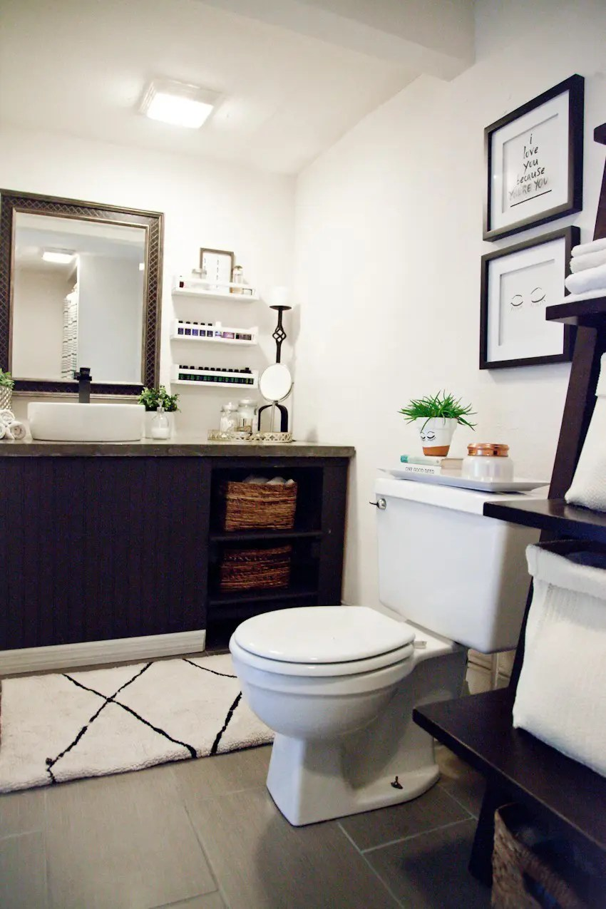 Beautiful Taking it Our light and bright simple studio bathroom remodel A Before and After