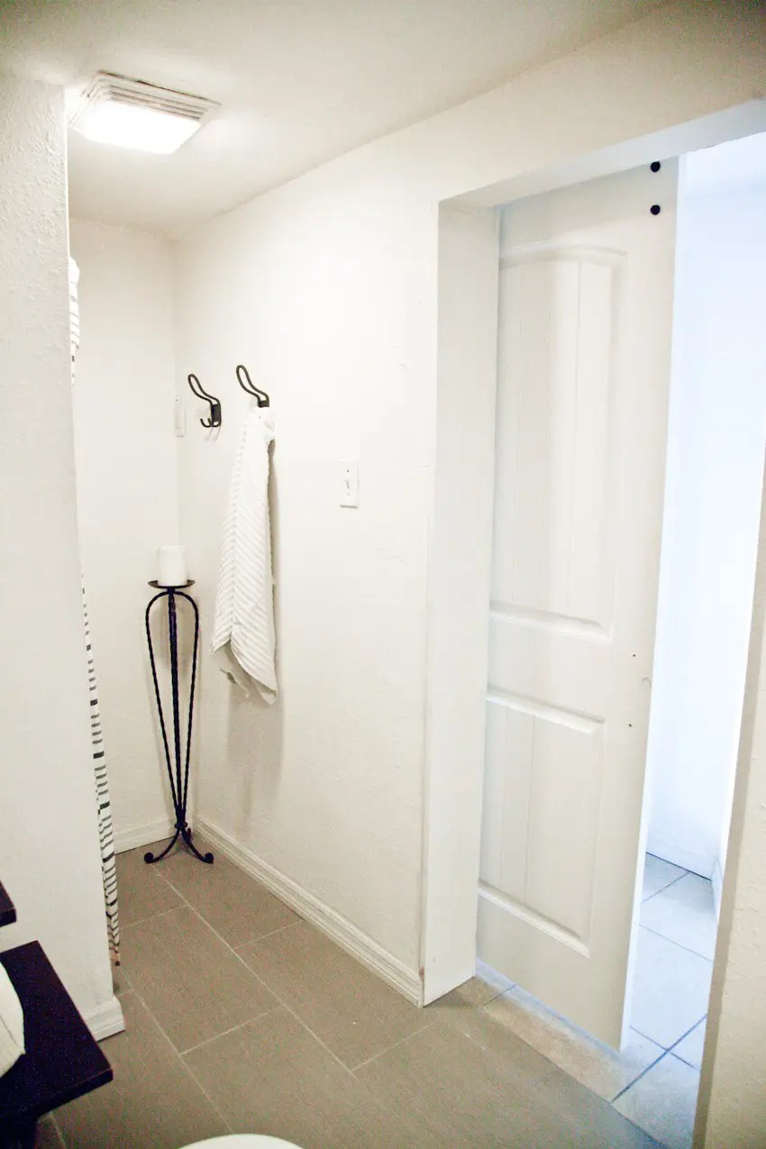 Fresh Taking it Our light and bright simple studio bathroom remodel A Before and After