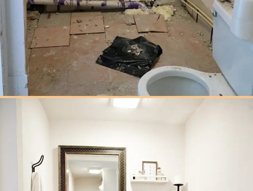 our studio bathroom remodel a before and after