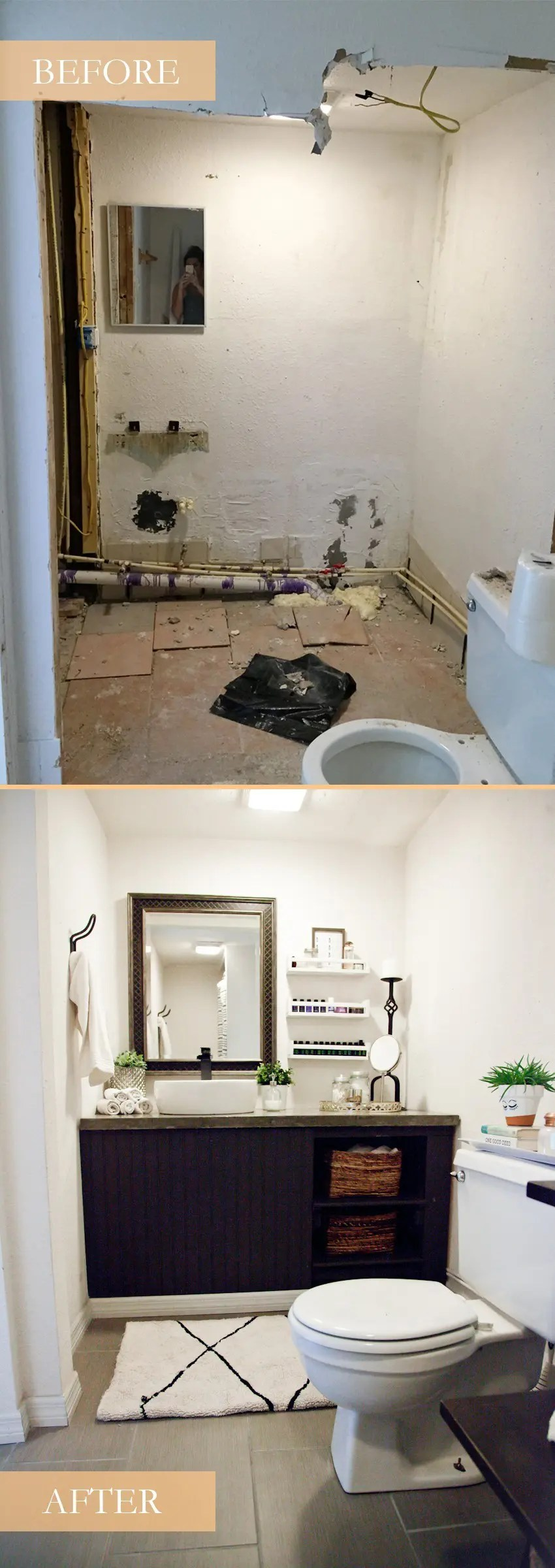 Trend Our light and bright simple studio bathroom remodel A Before and After