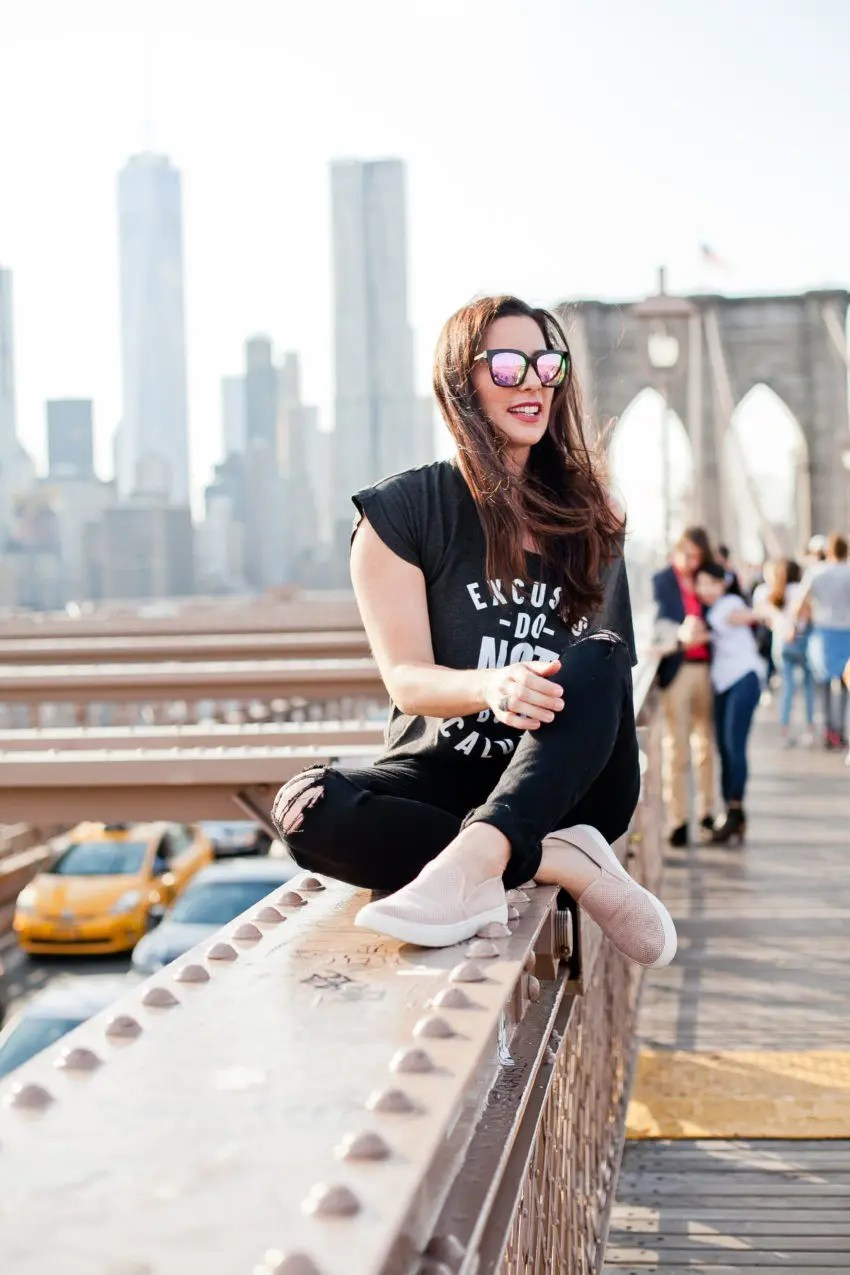 Jumpstart Your Life by Mastering Excuses! How to overcome fear and break through excuses to find success in any area. Fun Brooklyn Bridge photos!