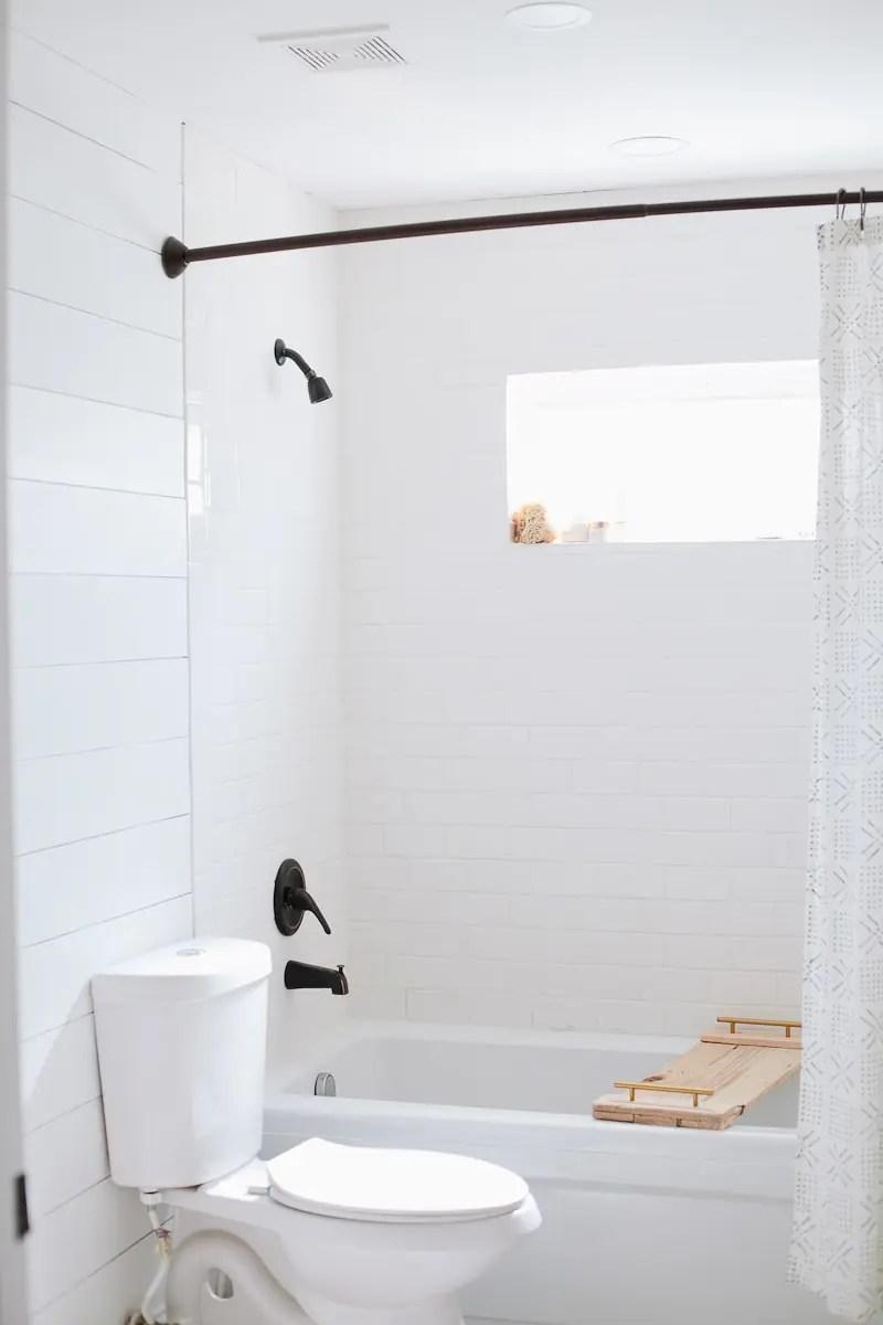 Bathroom Remodel Update DIY Faux Shiplap Walls Fresh Mommy Blog