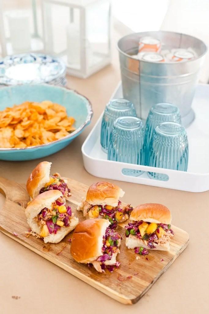 Easy Entertaining and BBQ Hawaiian Chicken Sliders recipe!