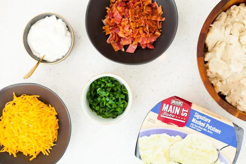 Laid Back Entertaining With a Mashed Potato and Mac and Cheese Bar. Loaded mashed potatoes and so much more.
