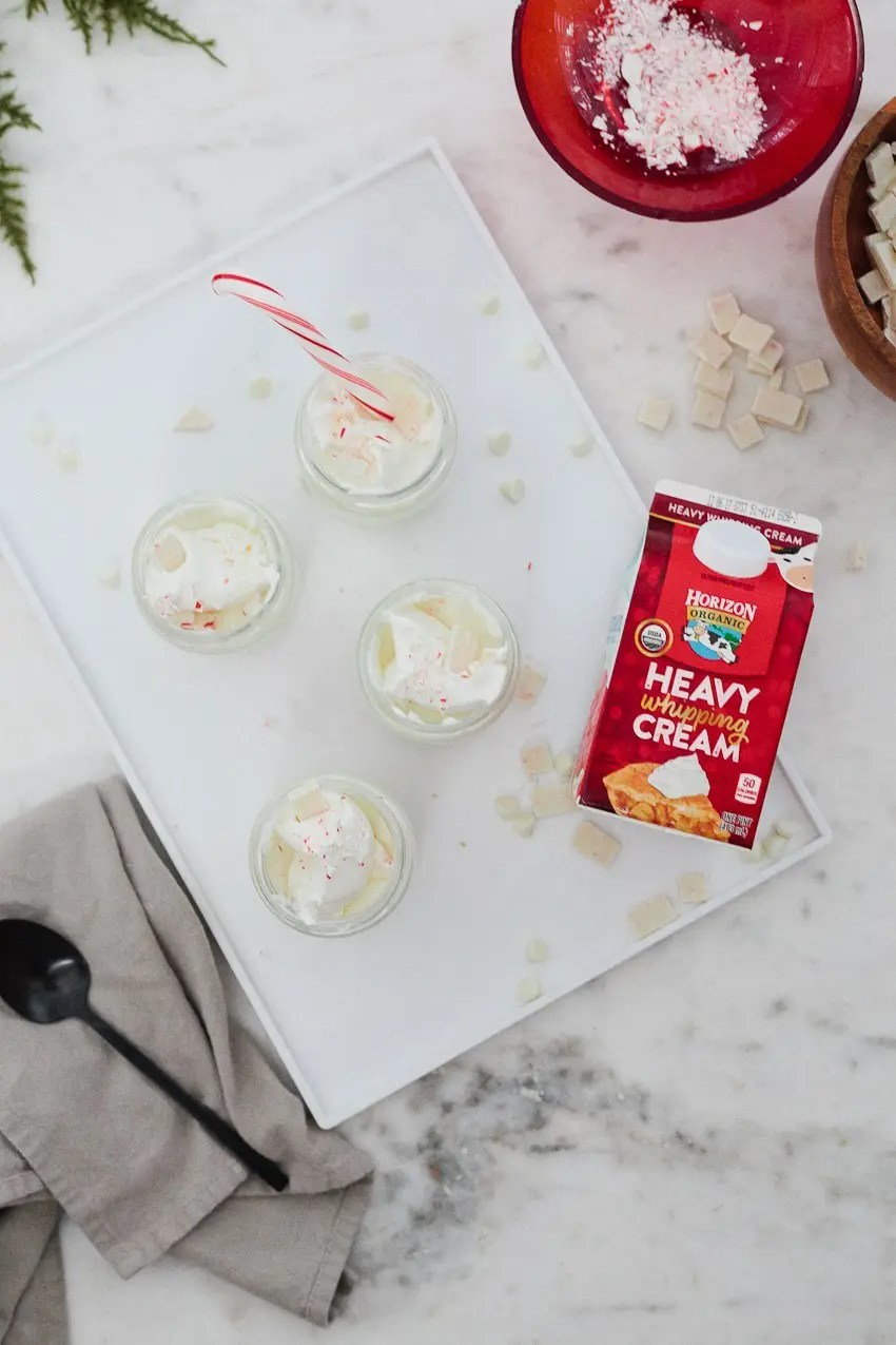 The Best White Chocolate Peppermint Mousse with Horizon Organic and Tabitha Blue of Fresh Mommy Blog